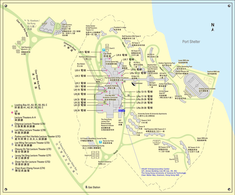 Entrepreneurship Center - Location map ust